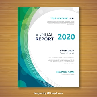 Cover abstracto de reporte anual