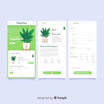Cover aplicación móvil plana