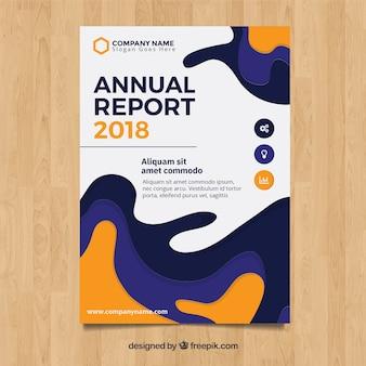 Cover ondulado de reporte annual