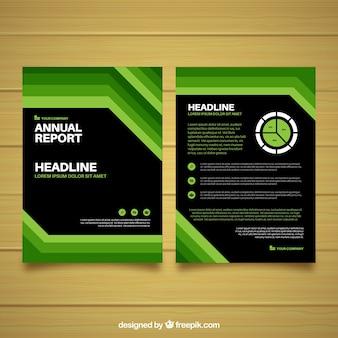 Cover de reporte annual verde y negro