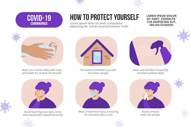 Covid-19 consejos para protección contra la bacteria