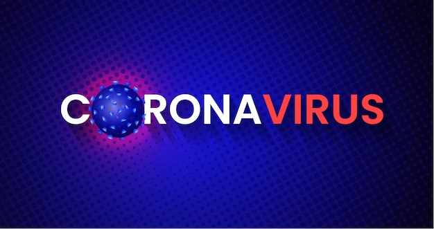 Covid-19 corona virus global pandemic banner design