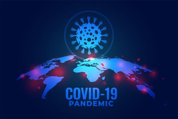 Covid-19 coronavirus pandemia infección global diseño de fondo