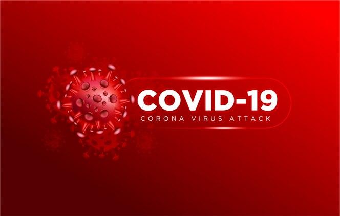Covid coronavirus en el fondo real de la ilustración 3d