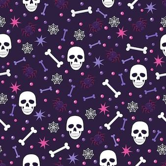 Cráneo y araña de patrones sin fisuras