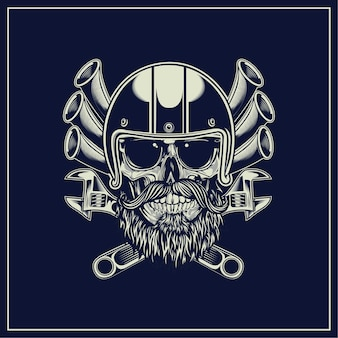Cráneo de biker