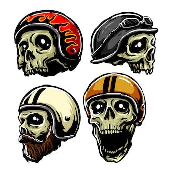 Cráneo casco retro