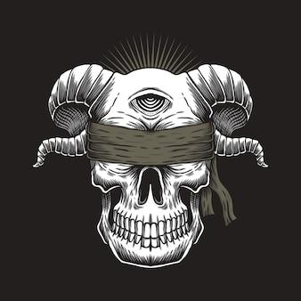 Cráneo ciego de un ojo