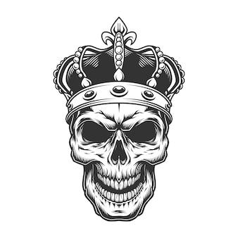 Cráneo en la corona