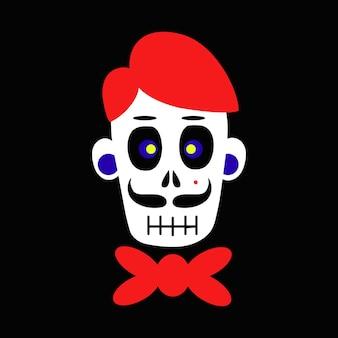 Cráneo del cráneo del novio para diseños de concepto de celebración de halloween