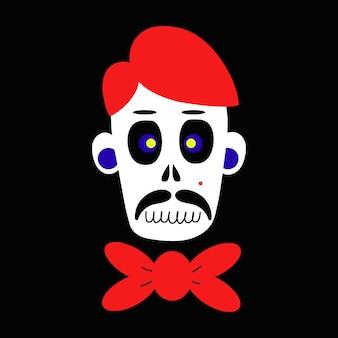 Cráneo de cráneo zombie para diseños de concepto de celebración de halloween