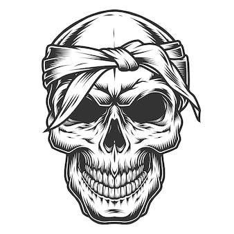 Cráneo en estule vintage