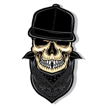 Cráneo hardcore vector