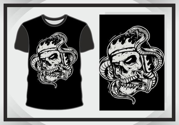 Cráneo para ilustración y camiseta