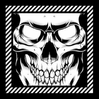 Cráneo de ilustración vectorial