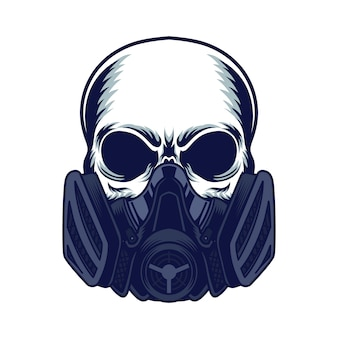 Cráneo de la máscara de gas