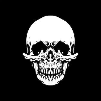 Cráneo monocromático vintage