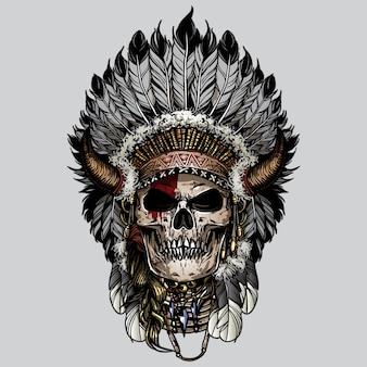Cráneo navajo indio