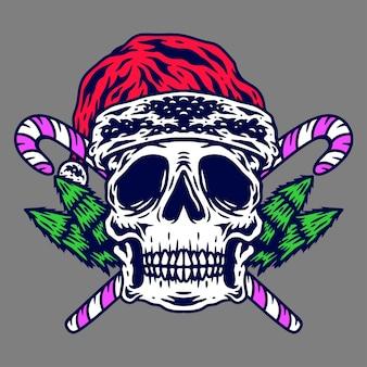 Cráneo de navidad arte