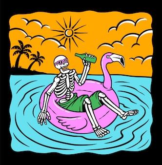 Cráneo relajarse ilustración