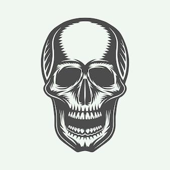 Cráneo retro vintage
