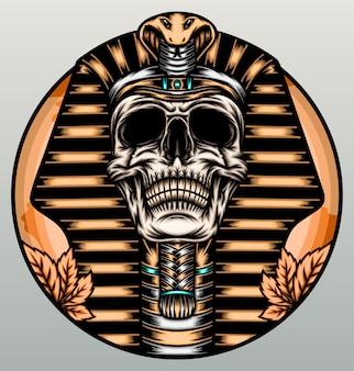 Cráneo del rey faraón.