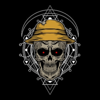 El cráneo con sombrero