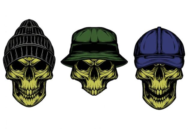 Cráneo con sombrero