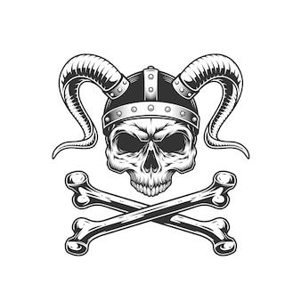 Cráneo vikingo sin mandíbula