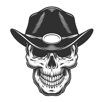 Cráneo vintage monocromo