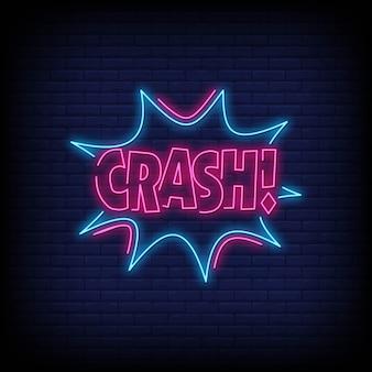 Crash letreros de neón
