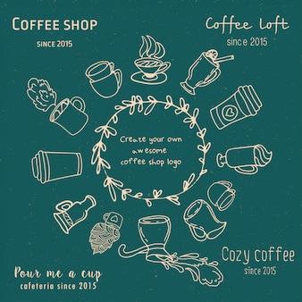 Crea tu propio logotipo de cafetería.
