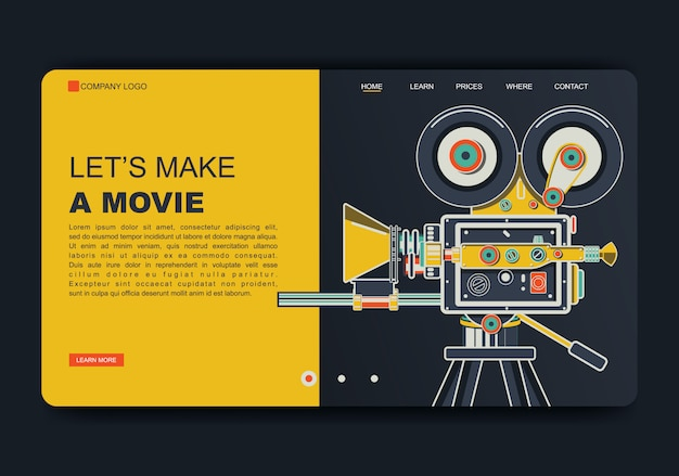Creación de la página de inicio de la película