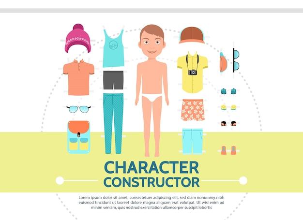 Creación de personajes masculinos en estilo plano
