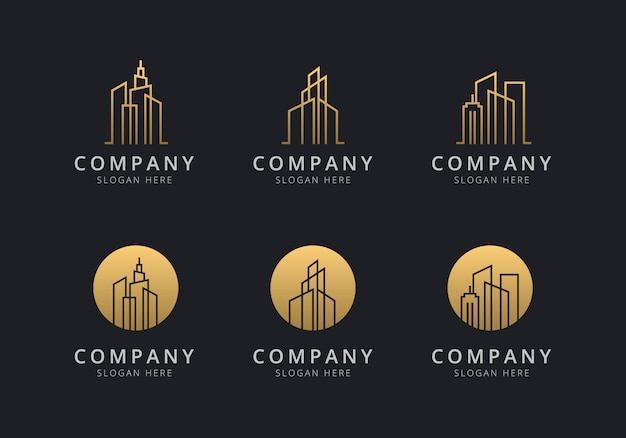 Creación de plantilla de logotipo con color dorado para la empresa.