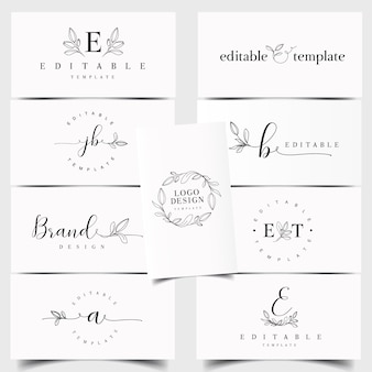 Creador de logos florales.
