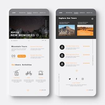 Creando nuevos recuerdos viajan aplicación móvil