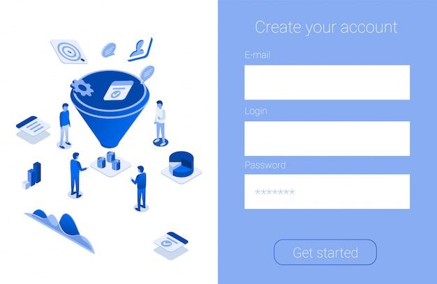 Crear una promoción de cuenta para aumentar el embudo de ventas