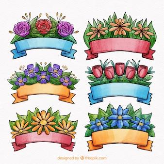 Creativa colección de cintas de acuarela de primavera