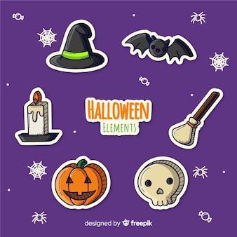Creativa colección de elementos de halloween