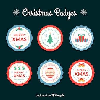 Creativa colección de etiquetas de navidad