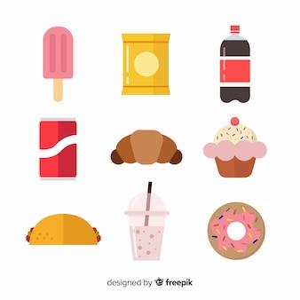 Creativa colección de snacks