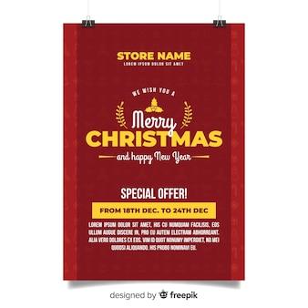Creativa plantilla de cartel de fiesta de navidad