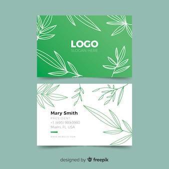 Creativa plantilla de tarjeta de visita con concepto de naturaleza