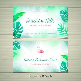 Creativa tarjeta de visita con concepto de naturaleza