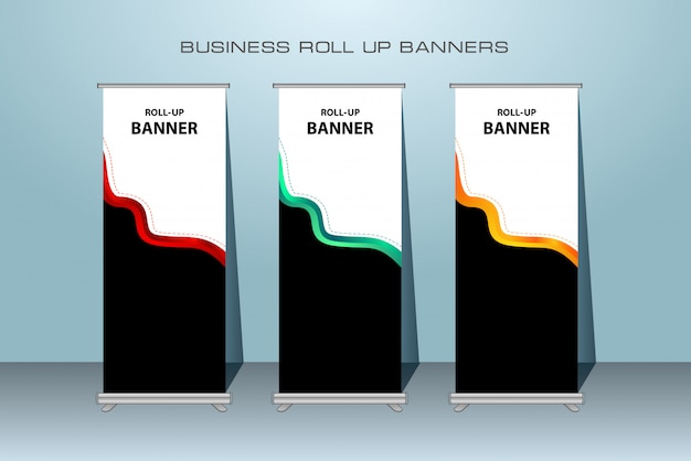 Creative business rollup xbanner diseño de pie