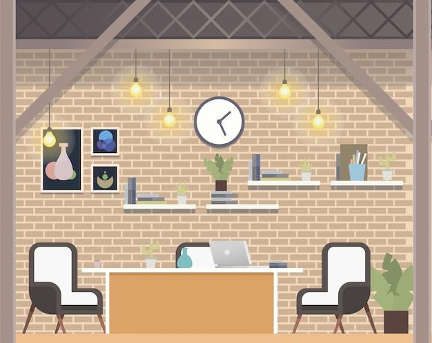 Creative coworking workspace company, oficina acogedora