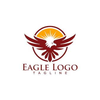 Creative eagle logo stock vector