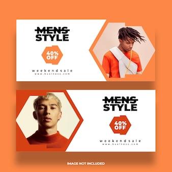 Creative minimal vector design modern social media premium banner