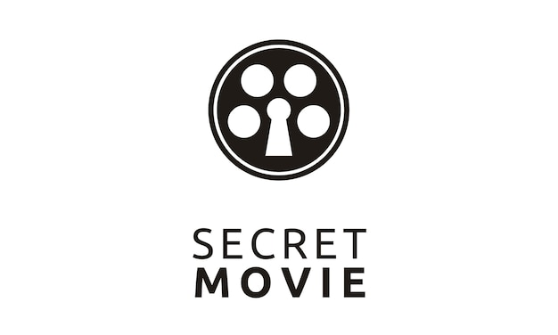 Creative movie reel con diseño de logotipo de keyhole
